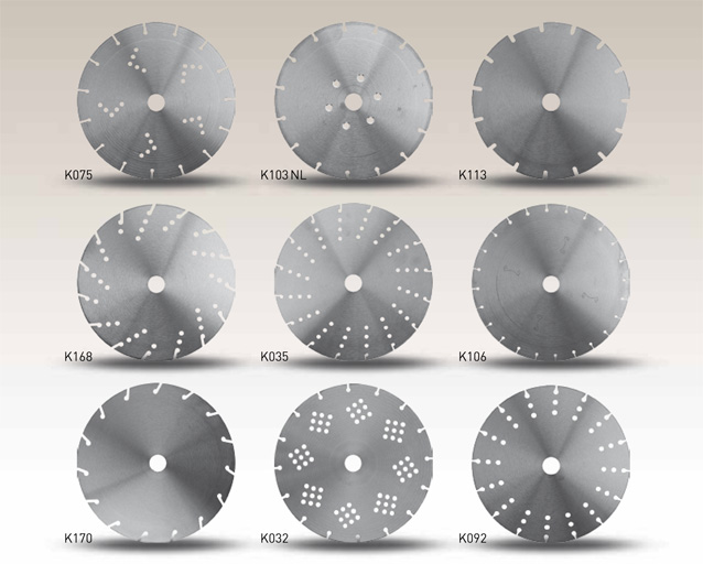 Illustration of various steel core options